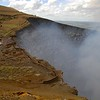 driving up to the rim of the collapsed volcano, where the steam...
