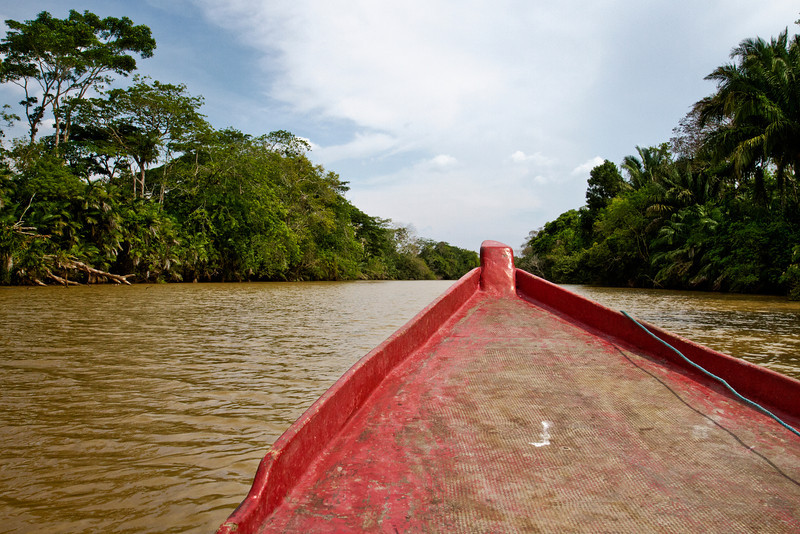 Heading to Costa Rica by boat.