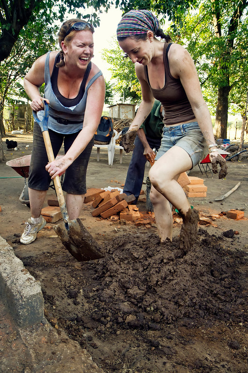 Mixing Manure with Feet
