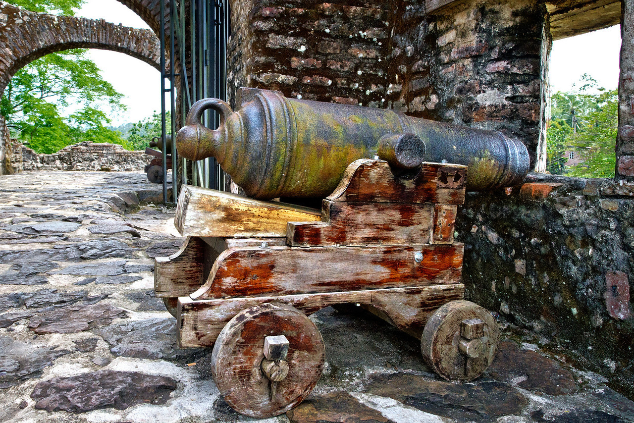 Cannon in the fortress.