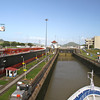 Silver Cloud enters the Miraflores Locks on the Pacific side of the Panama Canal.
