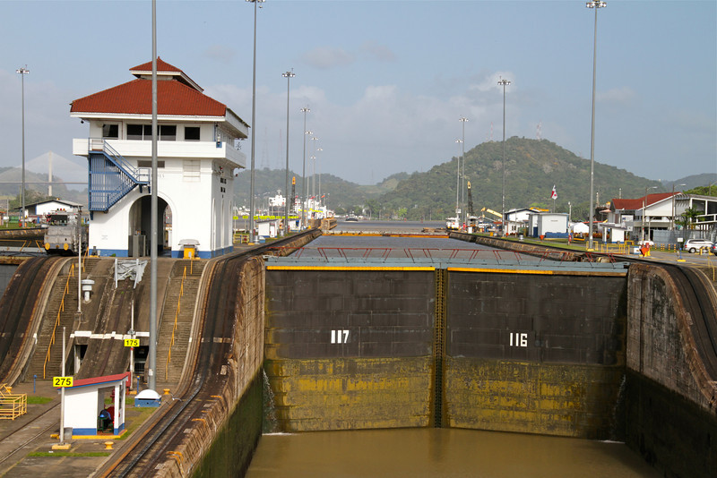 "Gate to the Miraflores Locks in Panama Canal. Read about our transit:   <a href=""http://myitchytravelfeet.com/2012/01/24/panama-canal-transit/"">http://myitchytravelfeet.com/2012/01/24/panama-canal-transit/</a>"