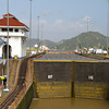 Gate to the Miraflores Locks in Panama Canal
