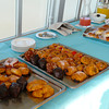 Tempting pastries at the pool deck breakfast as Silver Cloud transits the Panama Canal.