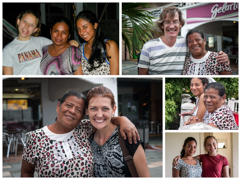 Collage of our Panama family