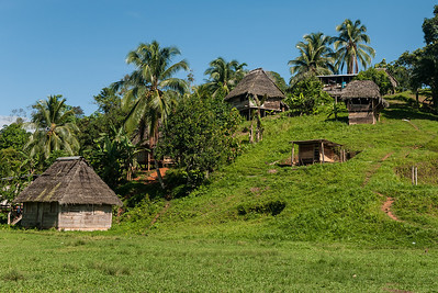 A small village settlement adjacent to Silico Creek, Panama.