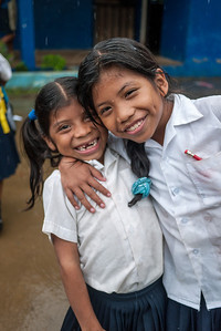 Excited girls at Silico Creek, Panama.