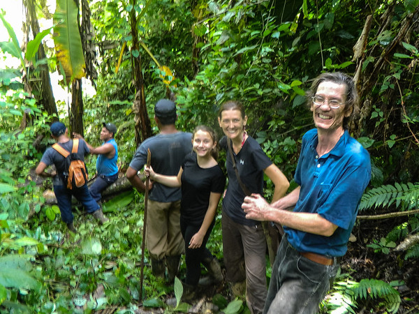 hiking in a sustainable community in Panama