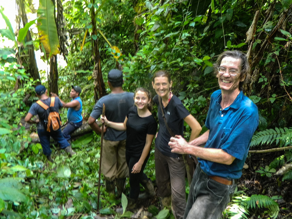 Our group making our way through the mud to the waterfalls near Silico Creek, Panama.