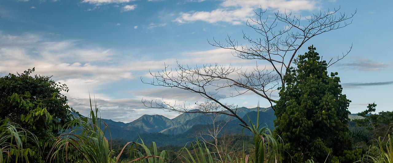 Sunrise from Urari's bungalows at Silico Creek, Panama.