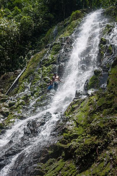 The waterfalls at Silico Creek, Panama.
