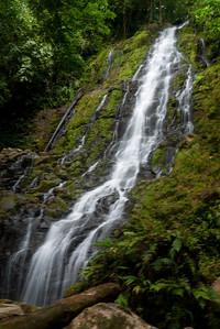 The waterfall near Silico Creek, Panama.