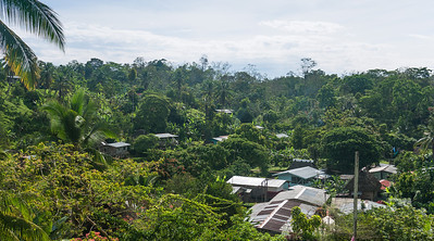 A look at the village and houses at Silico Creek, Panama.