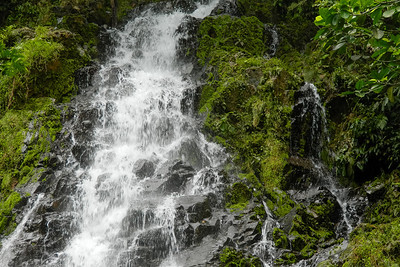 The waterfall near Silico Creek, Panama.