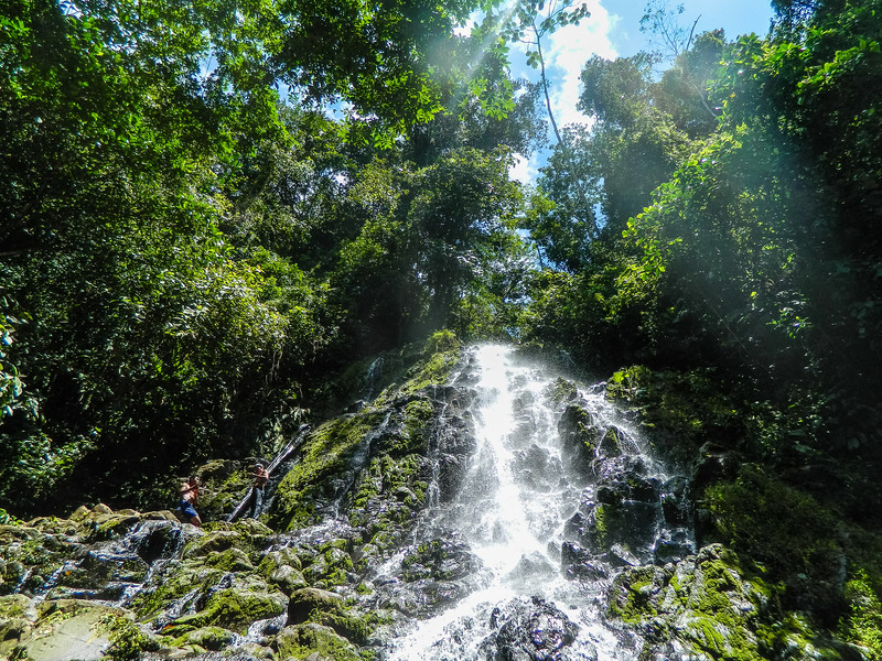 A gorgeous day for the waterfall hike at Silico Creek, Panama.