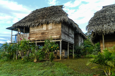 The basic wooden bungalows provided by Urari at Silico Creek, Panama.