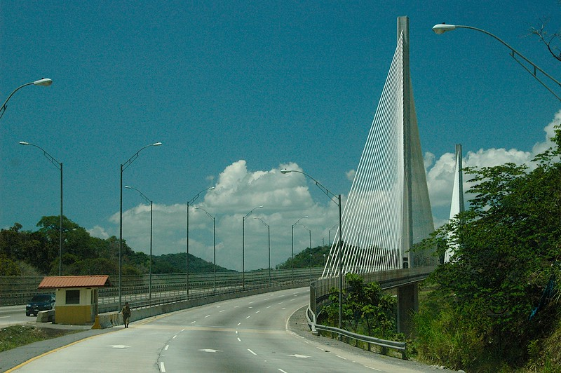 Finally, crossing this modern bridge we were nearing Panama City, where we spent several days.