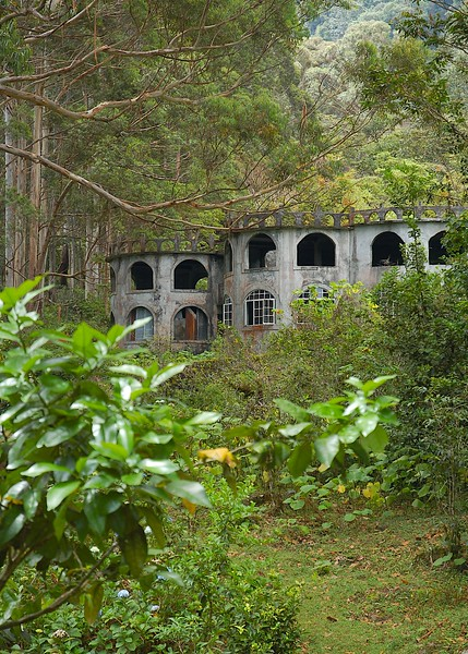 "We finally wandered on, coming across these ""modern ruins"" of a hotel gone bust and being reclaimed by the jungle..."