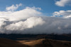Lenticular clouds moving in on Iztaccihuatl
