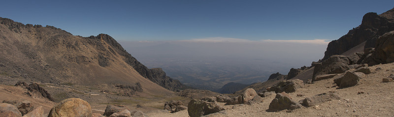 View to other side on Iztaccihuatl (15,000 feet)