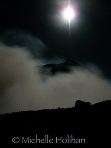 Volcan Telica in moonlight