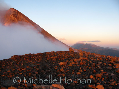 Volcan Telica in at sunrise