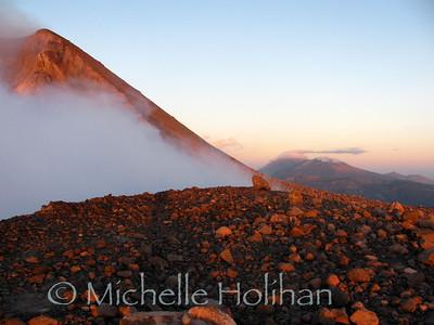 Volcan Telica in at sunrise