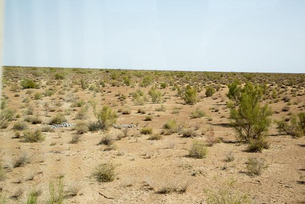 Karakum Desert and Oxus River