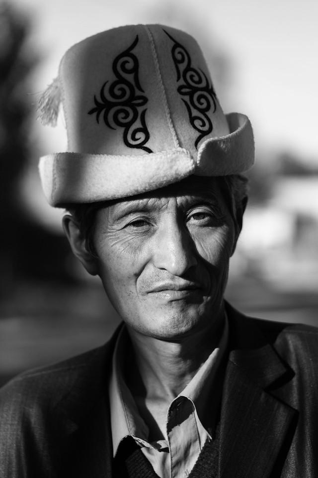 Man in Kalpak, Kochkor, Kyrgyzstan