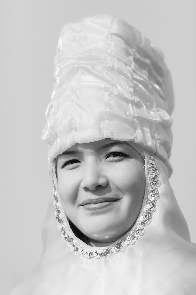Girl in National Dress, Nowruz Celebrations, Esim Khan Square, Turkistan, Kazakhstan
