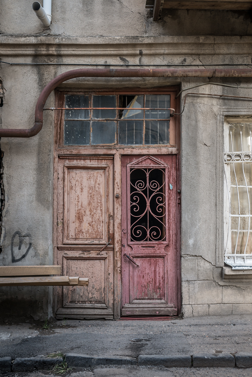 Beautiful doors and balconies in Old Town Tbilisi