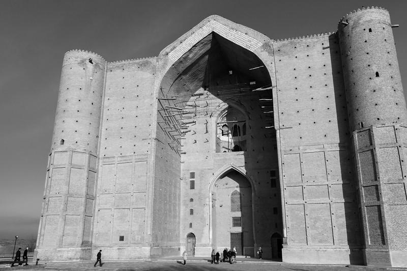 Pilgrims Enter the South-East Portal, Mausoleum of Khoja Ahmed Yasawi, Turkistan
