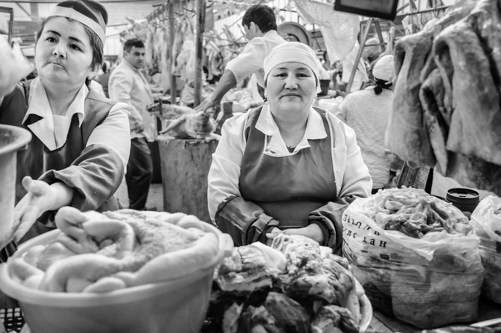 Meat Counter, Zelyony Bazaar, Almaty