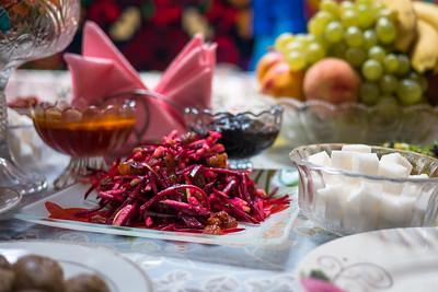 A vegetarian Kyrgyz salad
