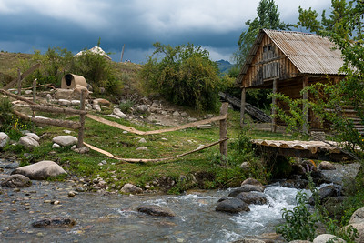 At the Pioneer Village experience in Karakol, Kyrgyzstan.