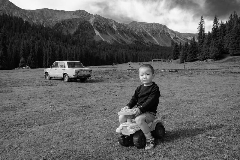 Boy on Toy Truck, Jeti-Oguz Valley