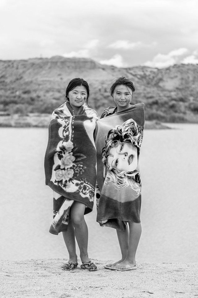 Two Girls after Bathing in the Ak-Say Salt Lake