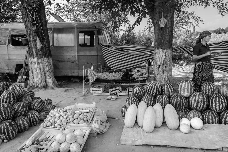 Fruit and Vegetable Market, Road East from Bishkek