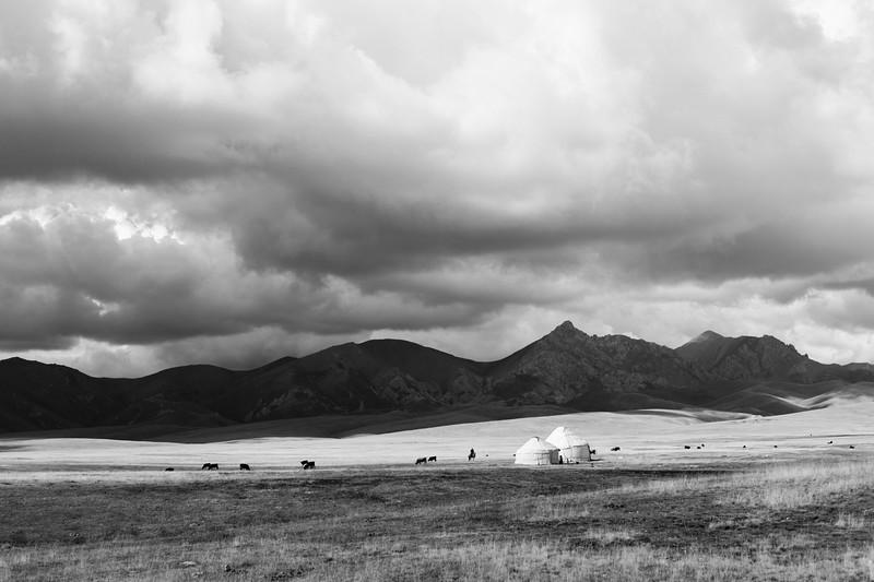 Yurts, Lake Song-Kul