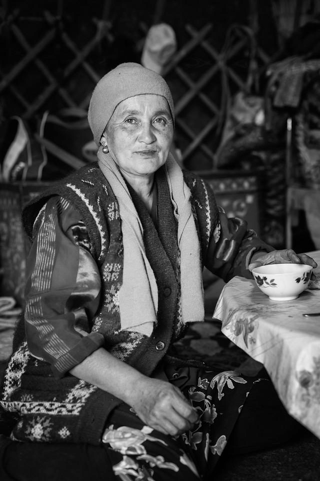 Woman in Yurt, Temir-Kanat (Iron Wing)