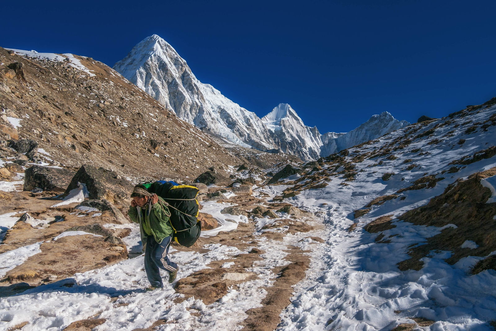 A Sunny day on the way to Mount Everest Base Camp