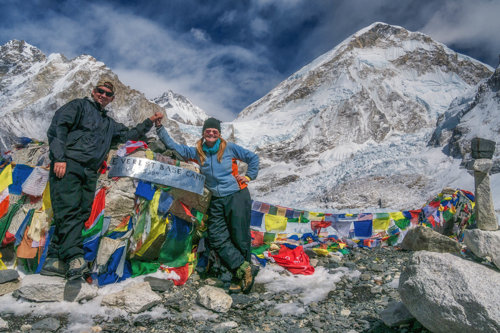 We made it to Mount Everest Base Camp.