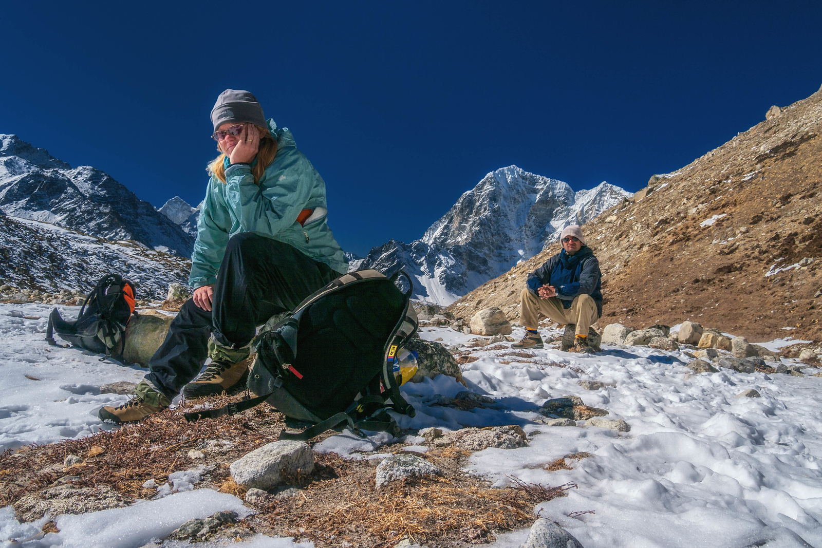 The Altitude starts to take its toll the closer we get to Everest Base Camp