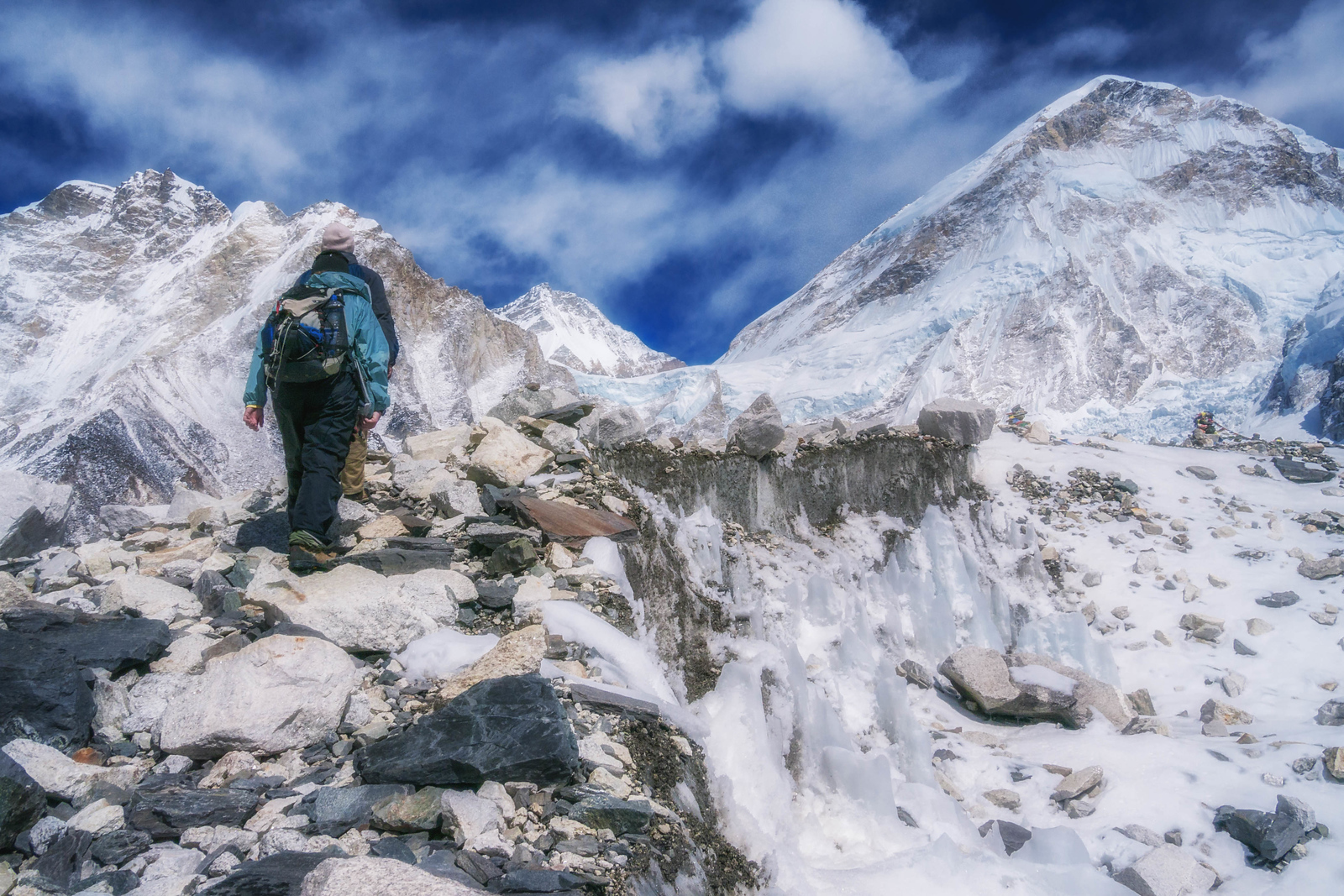 Hiking gets a little harder as we approach Everest Base Camp.
