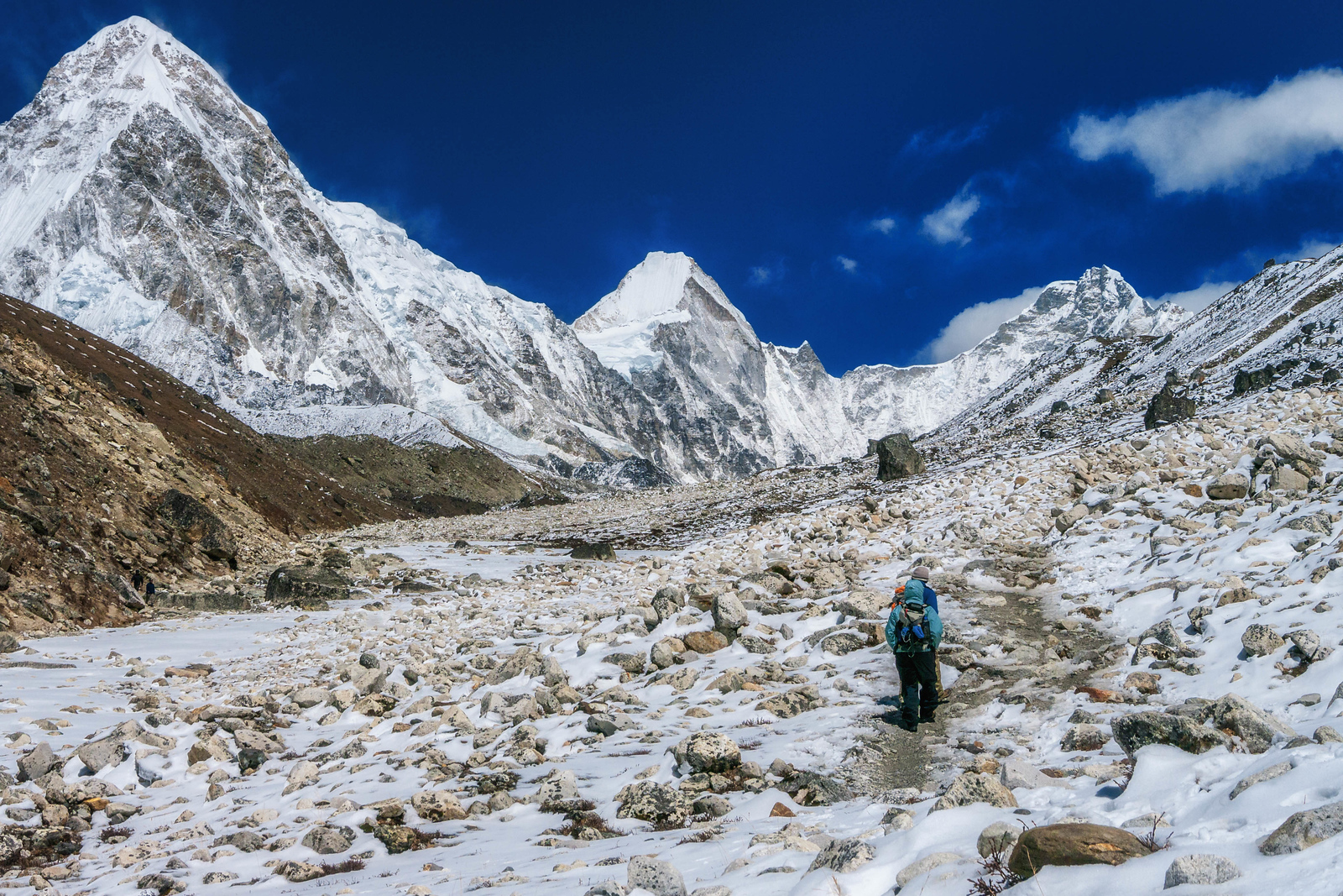The landscape changes the closer you get to Everest Base Camp
