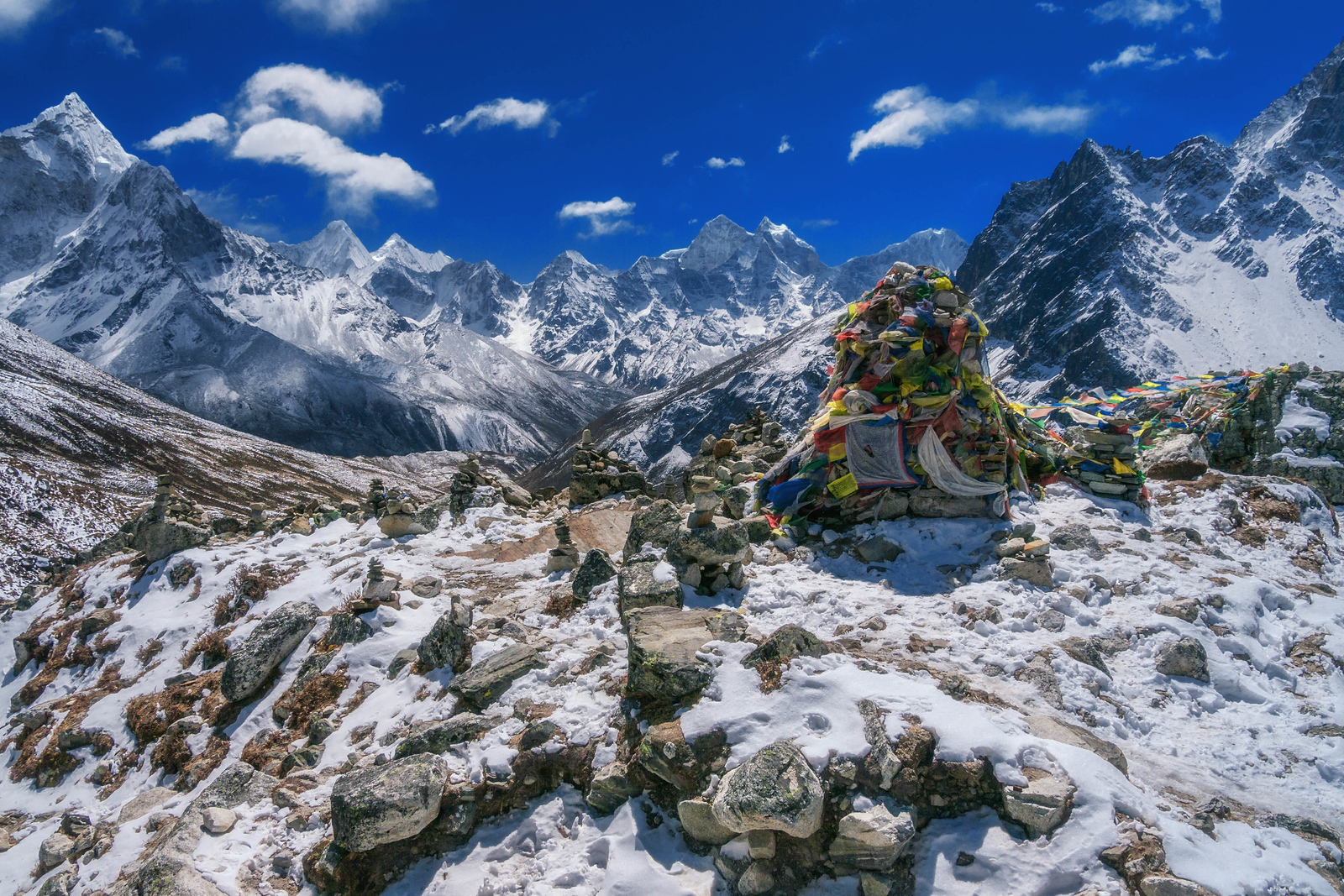 Shrines to fallen Sherpas are littered along the route to Mount Everest Base Camp