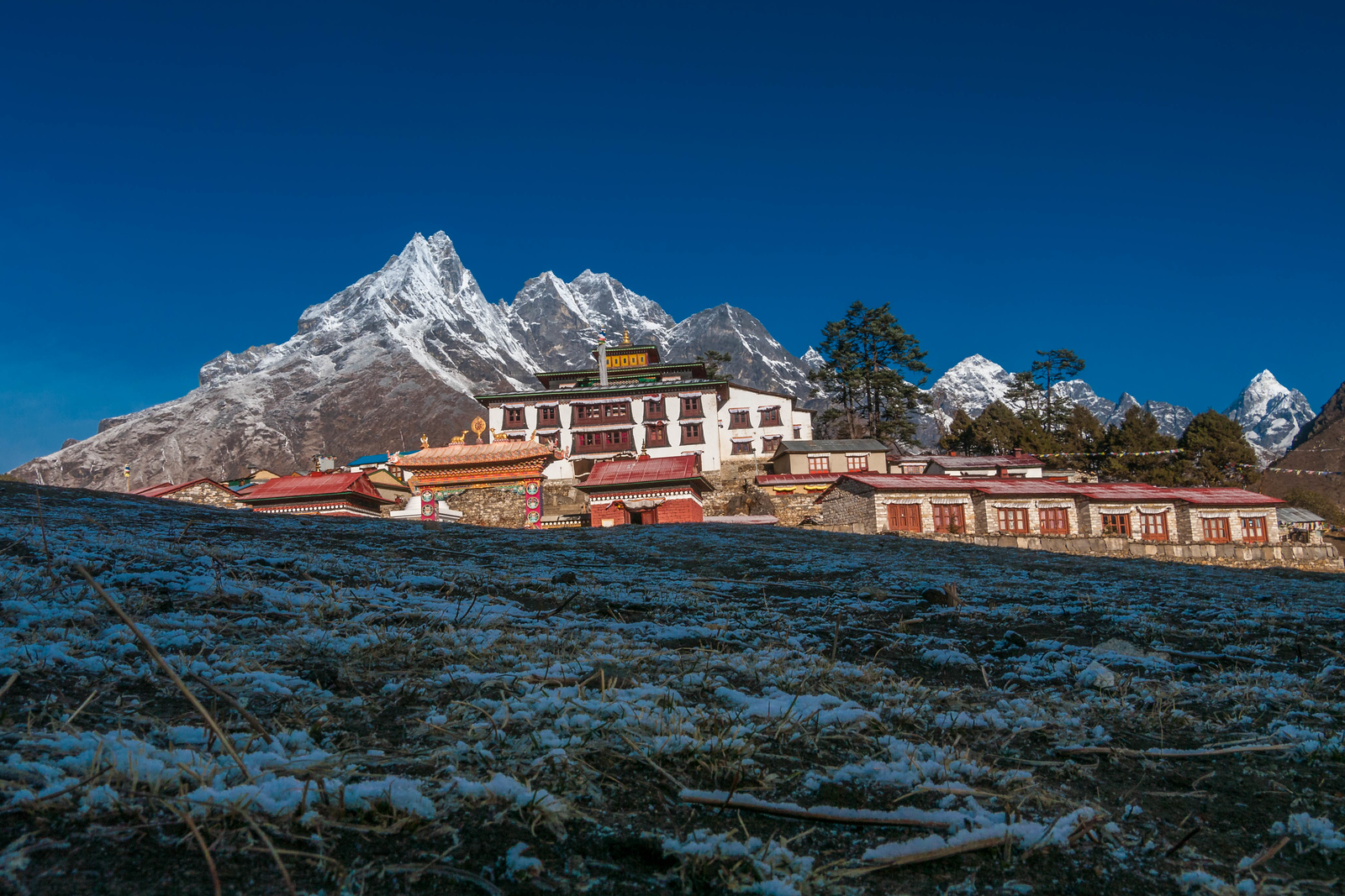 The Tengboche Monastery.