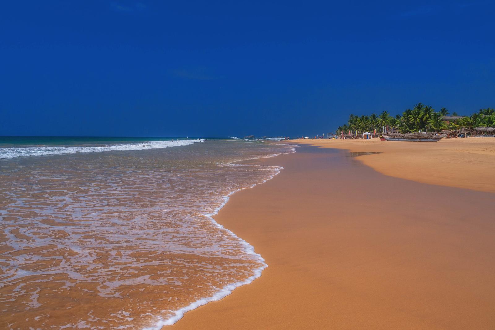 Beautiful beaches on the west coast of Sri Lanka.