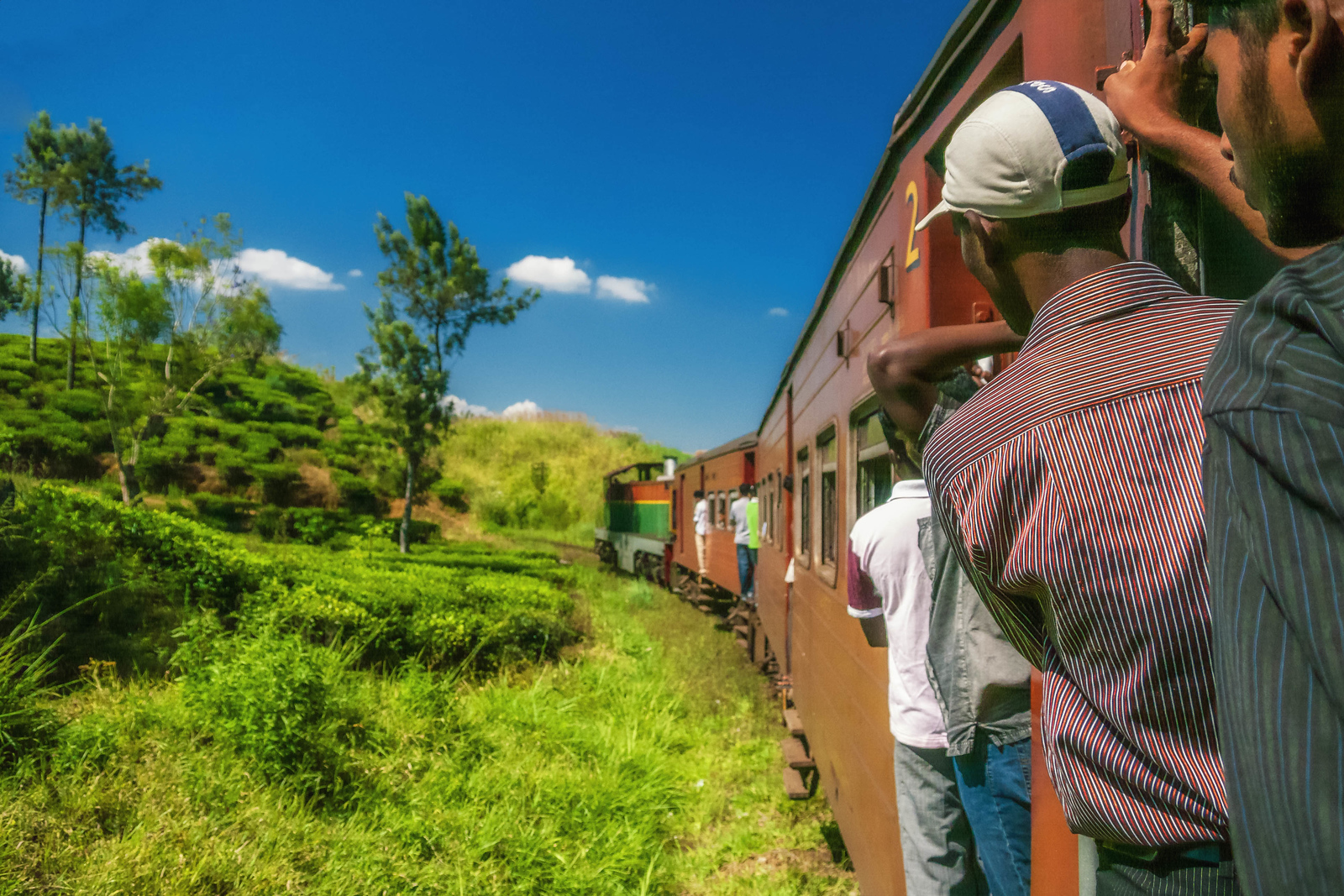 Riding the train is a must do in Sri Lanka.