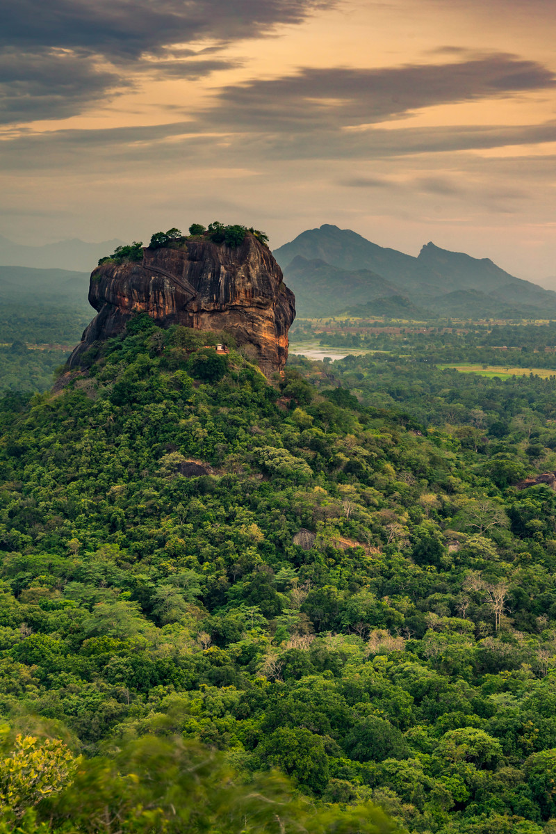 Sigiriya at Sunset in Sri Lanka
